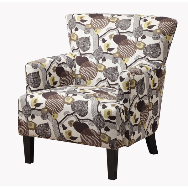 Shop Marion Geometric Earth Accent Chair With Flared Arms And Welt Trim    Free Shipping Today   Overstock   12806139