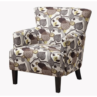 Emerald Marion Leaf Print Accent Chair