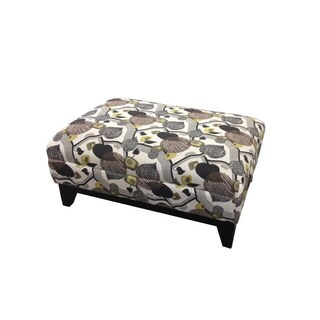 Emerald Marion Leaf Print Accent Cocktail Ottoman
