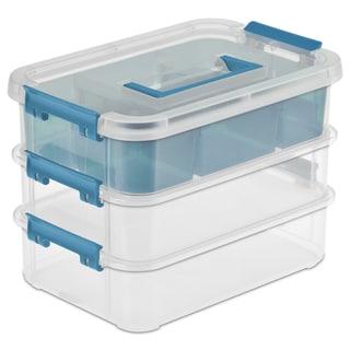 """Sterilite 14138606 10-5/8"""" L X 7-1/4"""" X 7-5/8"""" 3 Layer Stack & Carry Box"""