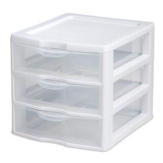 Sterilite 20738006 3 Drawer Clear Mini Unit
