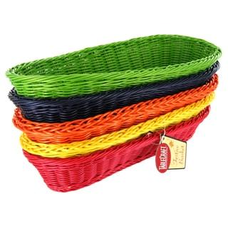 "TCP Tablecraft HM1118A 15"" Oblong Rattan Basket Assorted Colors"