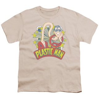 DC/Plastic Man Stars Short Sleeve Youth 18/1 in Cream
