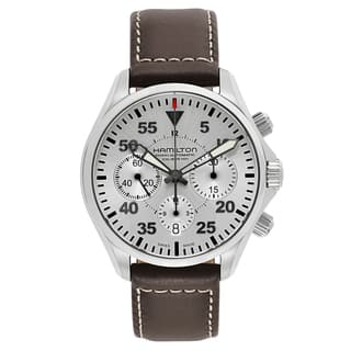 Hamilton Stainless Steel/Leather Swiss Automatic Watch|https://ak1.ostkcdn.com/images/products/12806278/P19575855.jpg?impolicy=medium