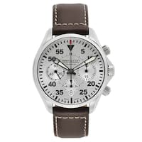 Hamilton Stainless Steel/Leather Swiss Automatic Watch