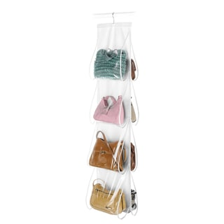 Whitmor 6044-14 White Hanging Purse Organizer