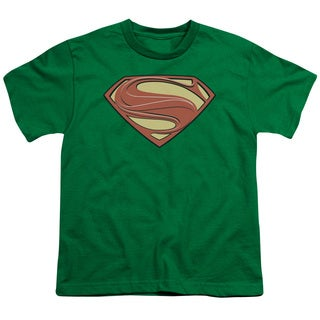 Man Of Steel/New Solid Shield Short Sleeve Youth 18/1 in Kelly Green