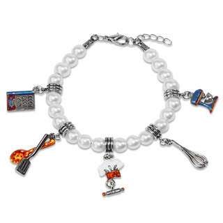 Chef Charm Bracelet in Silver