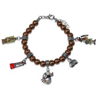 Artist Charm Bracelet in Silver