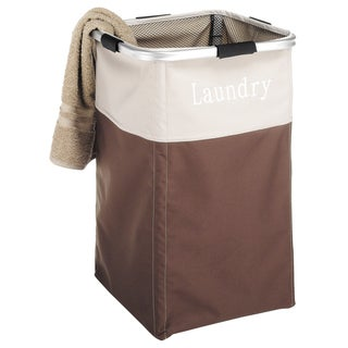 Whitmor 6205-2465-JAVA Java Square Laundry Hamper