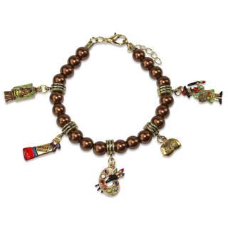 Artist Charm Bracelet in Gold