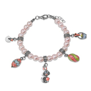 Easter Charm Bracelet in Silver