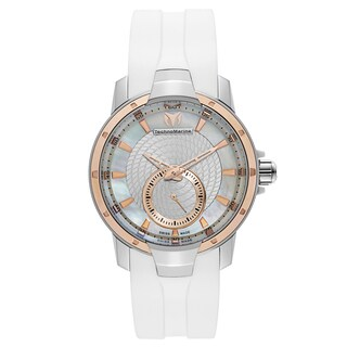 Technomarine White Silicone/Stainless Steel Swiss Quartz Watch