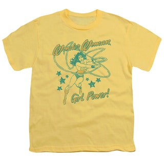 DC/Ww Girl Power Short Sleeve Youth 18/1 in Banana
