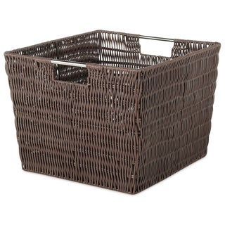 Whitmor 6500-1715-JAVA Rattique Storage Tote