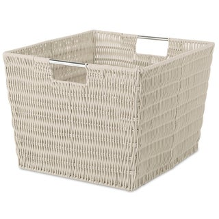 Whitmor 6500-1715-LATTE Latte Rattique Storage Tote