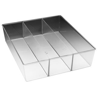 Whitmor 6789-3067 3 Section Small Clear Drawer Organizer