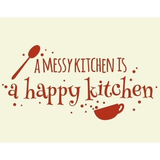 Syle and Apply 'Happy Kitchen' Wall Decal/Sticker/Mural/Vinyl Art Home Decor
