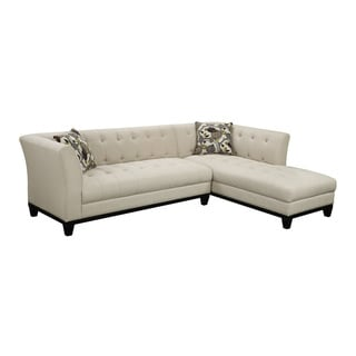 Emerald Marion Cream Transitional Chaise Sectional