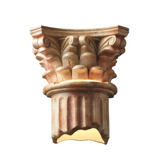 Justice Design Group Ambiance Agate Marble Outdoor Wall Sconce
