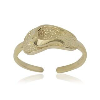 14k Yellow Gold Flip-flop Adjustable Toe Ring