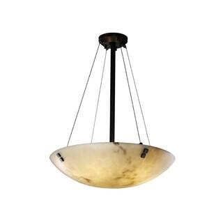 Justice Design Group LumenAria-Finials 24-inch Round Bowl Black Pendant