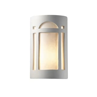 Justice Design Group Ambiance ADA Bisque Outdoor Small Arch Window Wall Sconce