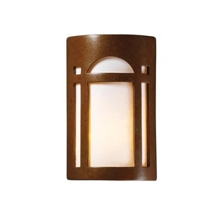 Justice Design Group Ambiance ADA Rust Patina Outdoor Large Arch Window Wall Sconce