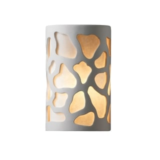 Justice Design Group Ambiance ADA Bisque Outdoor Large Cobblestones Wall Sconce