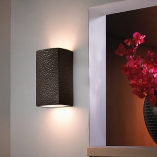 Justice Design Group Ambiance Iron Small Rectangle Wall Sconce