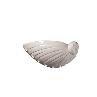 Justice Design Group Ambiance Gloss White Wall Sconce