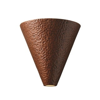 Justice Design Group Ambiance Iron Cut Cone Wall Sconce