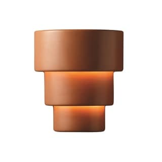 Justice Design Group Ambiance Terra Cotta Large Terrance Wall Sconce