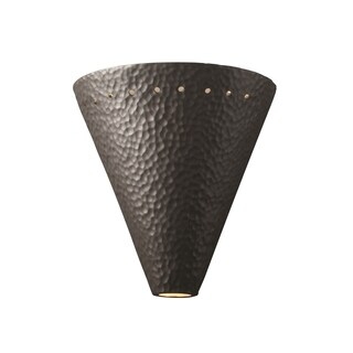 Justice Design Group Ambiance Iron Cut Cone with Perfs Wall Sconce