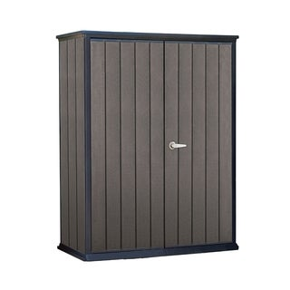 Keter High Store Resin Wood Look and Feel Outdoor Garden Storage Shed