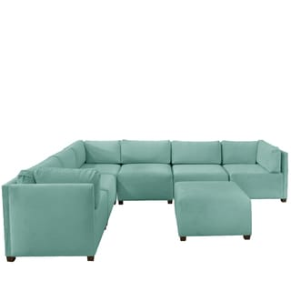 Skyline Furniture Velvet Caribbean Sectional Sofa
