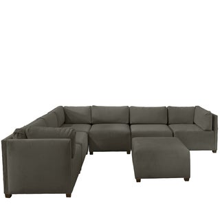 Skyline Furniture Modular Group D Sectional Sofa in Velvet
