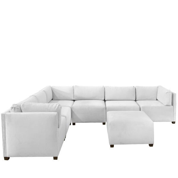 Shop Skyline Furniture Velvet White Sectional Sofa - Free Shipping
