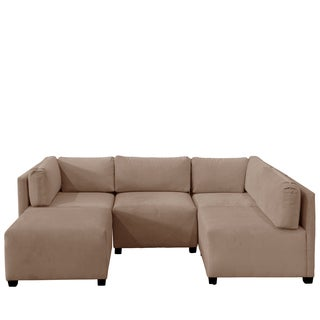 Skyline Furniture Velvet Cocoa Sectional Sofa