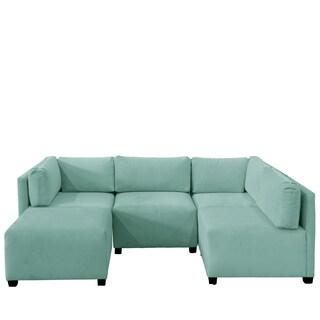 Skyline Furniture Velvet Caribbean Sectional Sofa