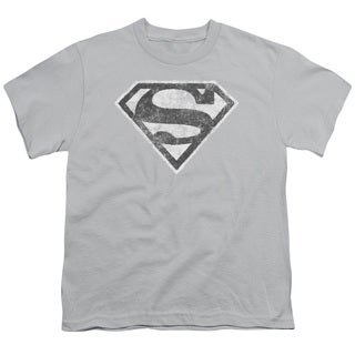 Superman/Grey S Short Sleeve Youth 18/1 in Silver