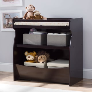 Delta Children Brown MDF 2-in-1 Changing Table and Storage Unit