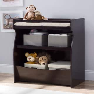 Delta Children Brown MDF 2-in-1 Changing Table and Storage Unit|https://ak1.ostkcdn.com/images/products/12806761/P19576234.jpg?impolicy=medium