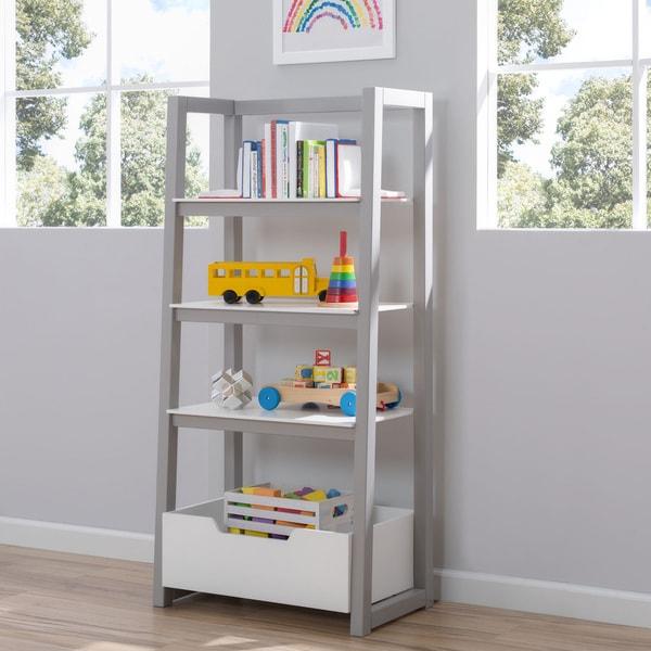 shop delta white and grey children ladder shelf free