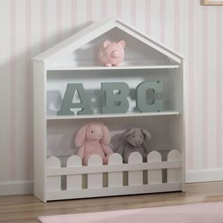 Delta Children Serta Happy Home Bianca White-finish Pine/MDF/Metal Two-shelf Storage Bookcase