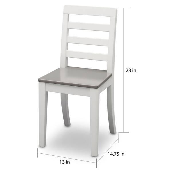 Sensational Shop Delta Children 3 Piece Grey And White Or Brown Table Uwap Interior Chair Design Uwaporg