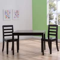 Delta Children Table and Chairs 3-Piece Set in Dark Chocolate Brown - N/A