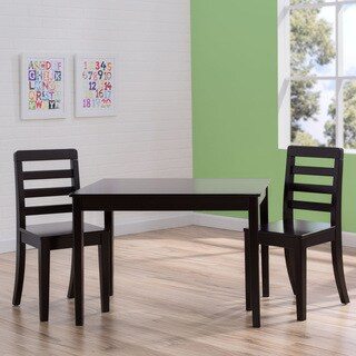 Delta Children Table and Chairs 3-Piece Set in Dark Chocolate Brown