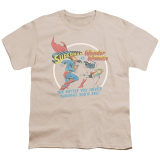 Superman/Battle Of The Sexes Short Sleeve Youth 18/1 in Cream