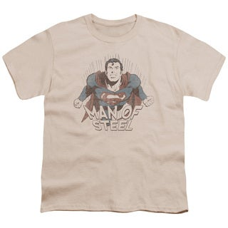 Superman/Fly Away Short Sleeve Youth 18/1 in Cream